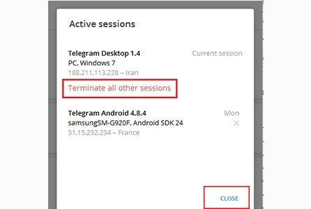 روش دیلیت اکانت تلگرام طلایی