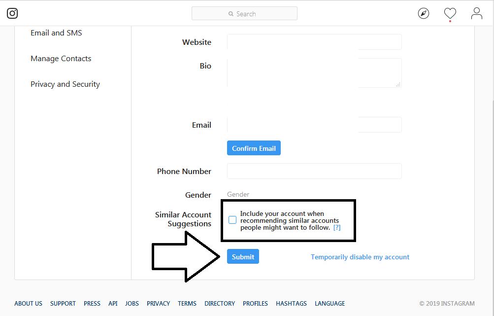 غیرفعال کردن قابلیت پیشنهاد کاربران برای دنبال کردن در اینستاگرام