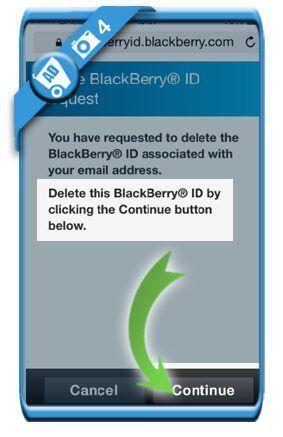 حذف اکانت مسنجر BBM بلک بری