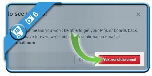 حذف اکانت Pinterest